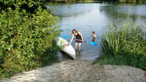 Testfahrt im Alveser See